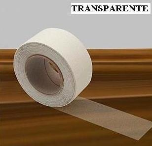 Fita Adesiva Antiderrapante Escada Cor Branca Transparente