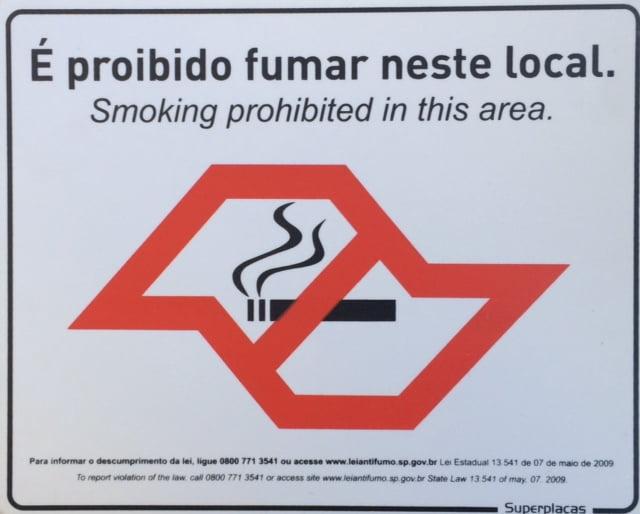 Placa Sinalização Proibido Fumar Lei Estadual Marca: SuperPlaca Material: Plástico Tamanho:20x25cm