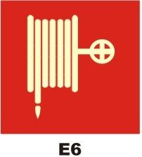 Placa Sinalização Certificada Extintor Mangotino - Tamanho 20x20 cm com Combate A incêndio Fotoluminescente Certificada Anti-Chama   Espessura de 2mm