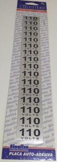 Placa Sinalização 110 Volts 16 Peças em Aluminio