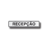 Placa Sinalização Recepção - Escritório - Alumínio - Super Placas