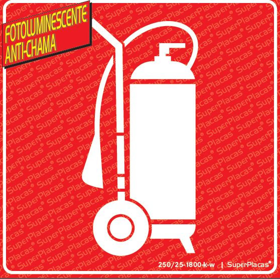 Placa Extintor Carreto Fotoluminescente Certificada Abnt 13434-3