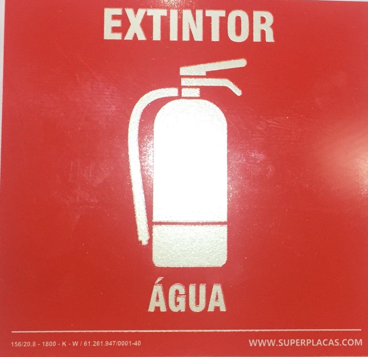 Placa Extintor Agua h20  - Fotoluminescentes Com Cnpj Certificada Nbr13434-3