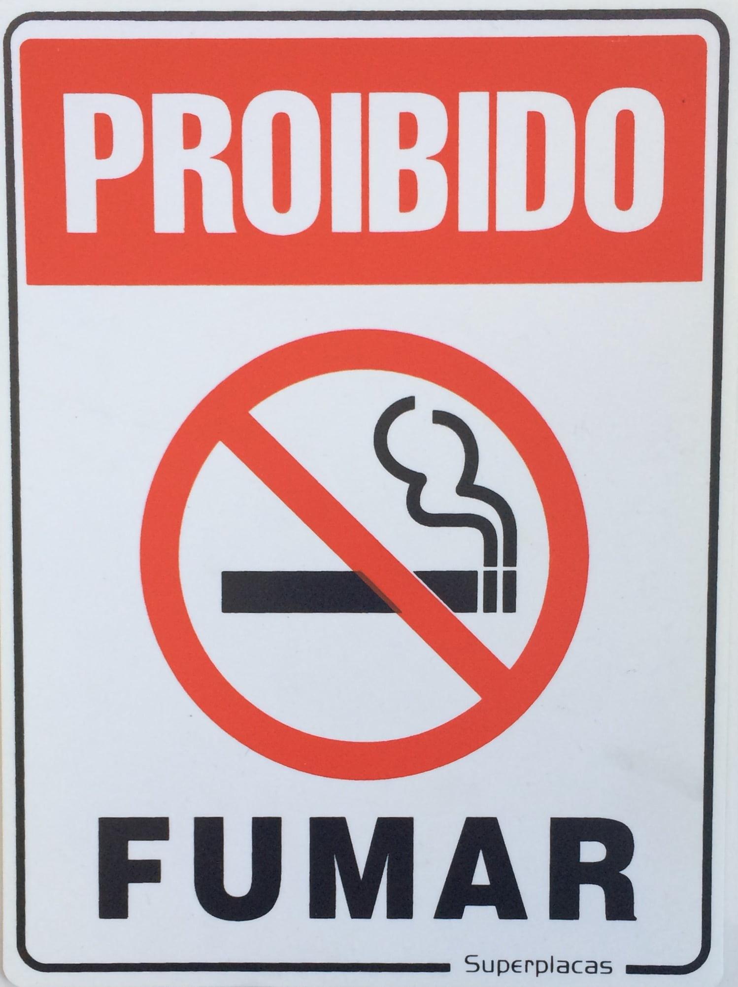 Placa Sinalização Proibido Fumar Lei Federal  Plástico 15x20cm SuperPlacas