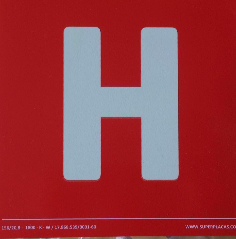 Placa Sinalização Combate Incêndio Emergência - Hidrante H