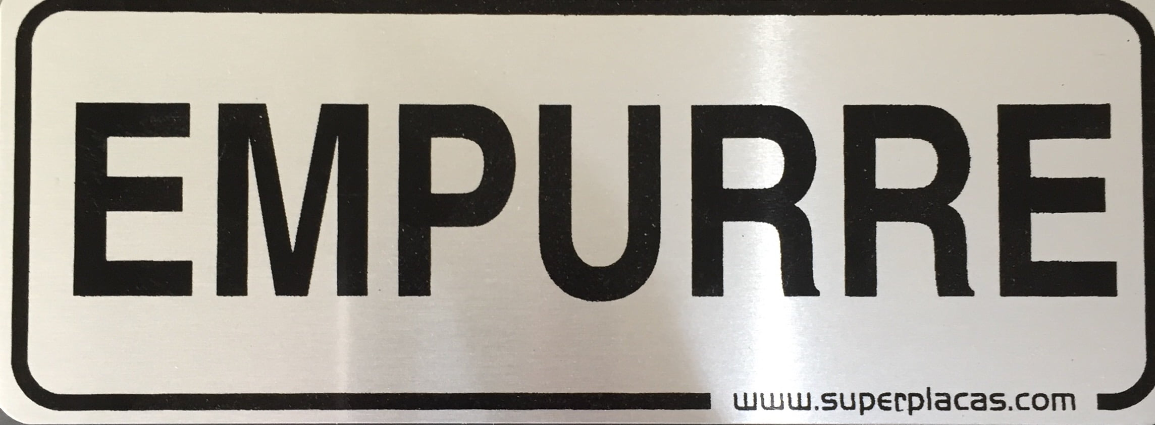 Placa Sinalização Empurre - Super Placas Alumínio - Tamanho: 5x15cm