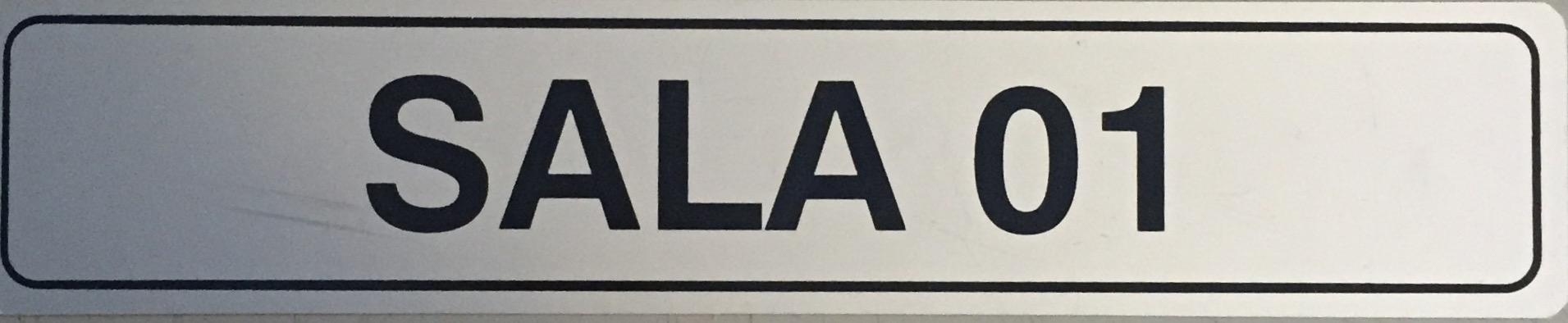 Placa Sinalização Sala 1- Escritório - Alumínio - Super PlacasFinanceiro