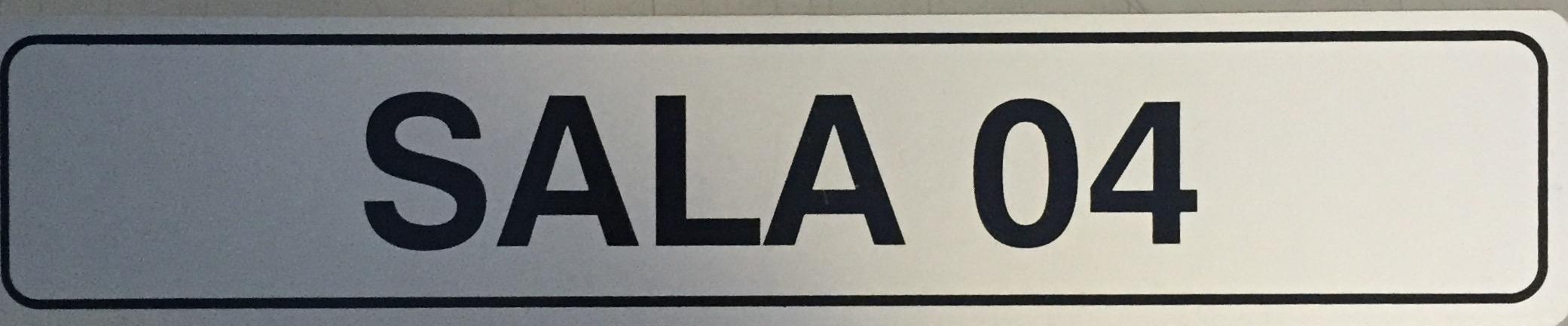 Placa Sinalização  Sala 4Escritório - Alumínio - Super PlacasFinanceiro
