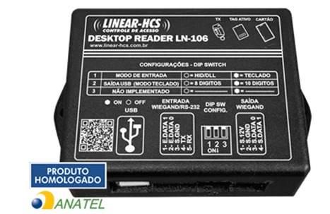 Leitor USB de Mesa para Controle de Acesso Linear HCS - Modelo LN-6