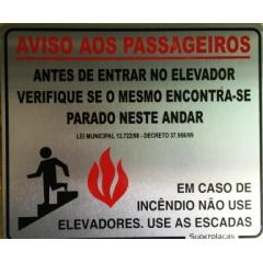 Placa Sinalização Aviso Aos Passageiros 15 x 18 cm