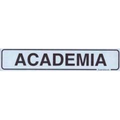 Placa Sinalização Academia