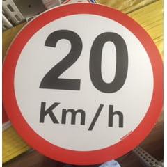 Placa Sinalização Garagem Velocidade Máxima 20 km/h