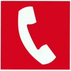 Placa Certificada Telefone Emergência E4 20x20