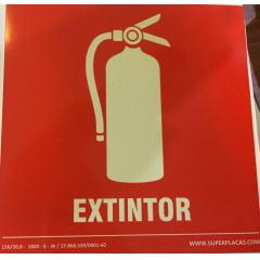 Placa Certificada Extintor E5 - 20x20
