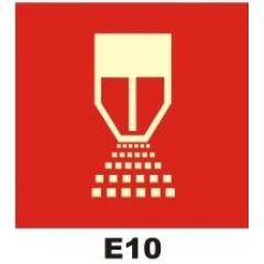 Placa Certificado Sprinkler - E10 - 20x20