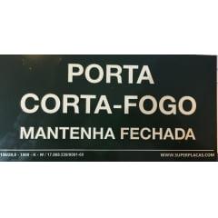 Placa Certificada  Rota Fuga S20 - Porta Corta Fogo Mantenha Fechada