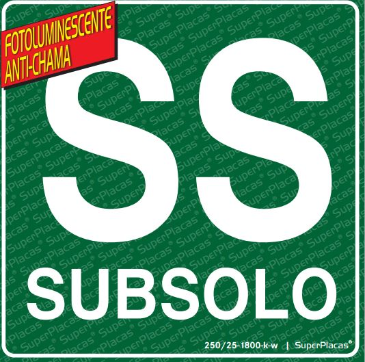 Placa Subsolo Fotoluminescente