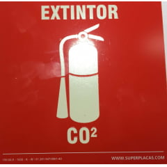 Placa Certificada Extintor CO2 - 20x20