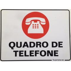 Placa Quadro de Telefone