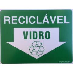 Placa Lixo Reciclável - Vidro