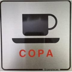 Placa Sinalização Escritório:  COPA Aluminio