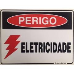Placa Sinalização  Perigo Eletricidade
