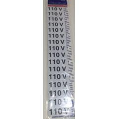 Placa Sinalização Perigo 110 Volts Plástico
