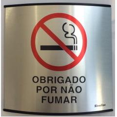 Placa Obrigado Por Não Fumar Calandrada (500 Al)