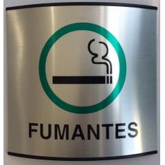 Placa Permitido Fumar Calandrada