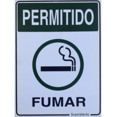Placa Permitido Fumar