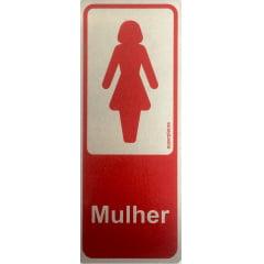 Placa Sanitário Feminino