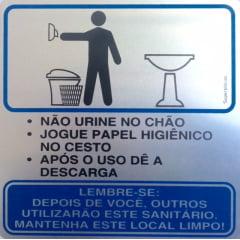 Placa Banheiro Educativa Masculino Office