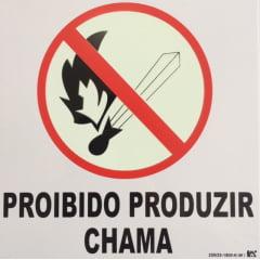 Placa Pictograma Proibido Produzir Chamas