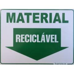 Placa Material Reciclável