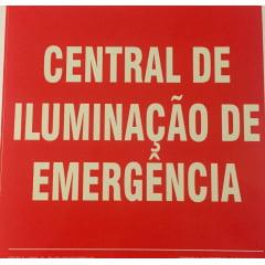 Placa de Sinalização Central de Iluminação de Emergência - Fotoluminescente
