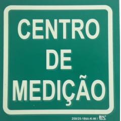 Placa Sinalização Rota de Fuga Certificada NBR 13434-3 CENTRO DE MEDIÇÃO