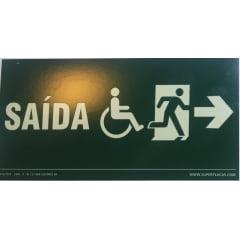 Placa Certificada  Rota Fuga - Cadeirante - Acessibilidade  - Direita