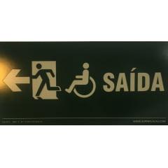 Placa Certificada  Rota Fuga - Cadeirante - Acessibilidade  - Esquerda