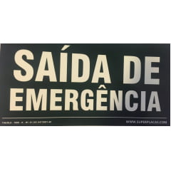 Placa Certificada  Rota Fuga - S17 Saída de Emergência-  GRANDE (20x40)