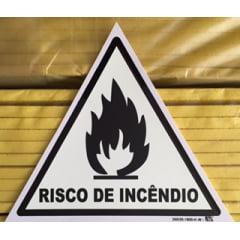 Placa Sinalização Risco De Incêndio Fotoluminescente