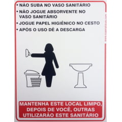 Placa Banheiro Educativa Feminino