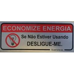Placa Economize Energia