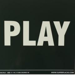 Placa Sinalização Rota de Fuga Certificada NBR 13434-3 Play