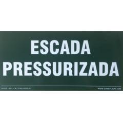 Placa Certificada  Rota Fuga - Escada Pressurizada  - 13x26 cm