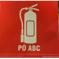 Placa Certificada Extintor Pó Químico ABC - E5P - 14x14 cm