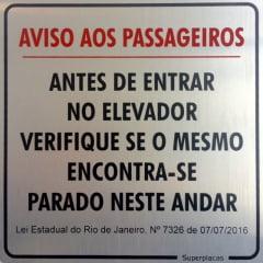 Placa Aviso Aos Passageiros RJ Lei 7326