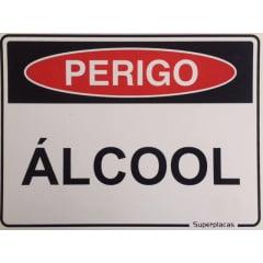 Placa Sinalização Álcool