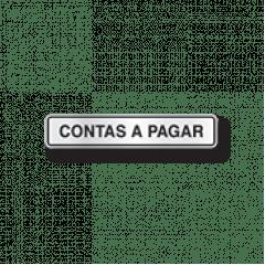 Placa Sinalização Escritório  - CONTAS A PAGAR  - Alumínio- 5x25cm