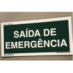 Placa Certificada  Rota Fuga - S17 - Saída de Emergência   - 13x26 cm